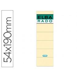 Etiquetas adhesivas elba lomera color hueso 54 x 190 mm pack de 10 unidades