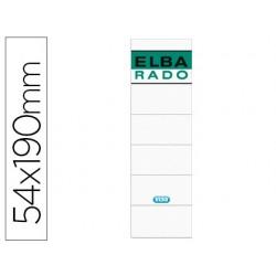 Etiquetas adhesivas elba lomera color blanco 54 x 190 mm pack de 10 unidades