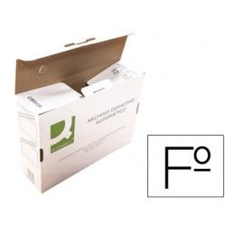 Caja archivo definitivo q-connect folio carton reciclado cierre con lengueta 255x360x100 mm