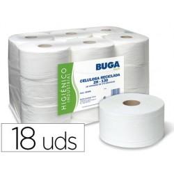 Papel higienico industrial gofrado buga reciclado 2 capas 130 m