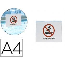 Funda autoadhesiva 3l office resistente al agua din a4 pack de 10 unidades