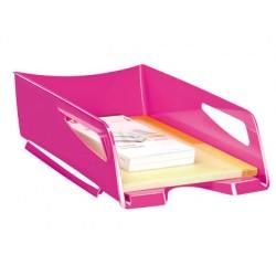Bandeja sobremesa cep maxi de gran capacidad plastico rosa 386x270x115 mm