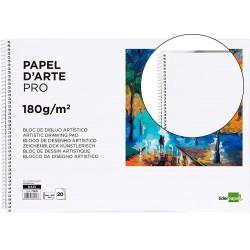 Bloc dibujo liderpapel artistico espiral 460x325mm 20 hojas 180 g/m2 sin recuadroperforado