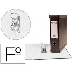 Modulo pardo 1 archivadores de palanca folio 2 anillas de 70 mm negro 350x100x290 mm