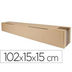 Caja para embalar q-connect tubo medidas 1020x150x150 mm espesor carton 3 mm