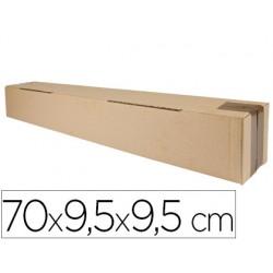 Caja para embalar q-connect tubo medidas 725x95x95 mm espesor carton 3 mm