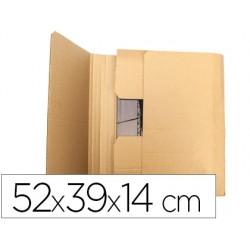 Caja para embalar q-connect libro medidas 520x390x140 mm espesor carton 3 mm
