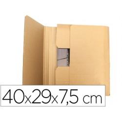 Caja para embalar q-connect libro medidas 400x290x75 mm espesor carton 3 mm