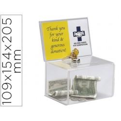 Buzon de sugerencia archivo 2000 con cerradura y dos llaves color cristal transparente 109x154x205 mm