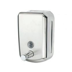 Dispensador manual q-connect de jabon 800 ml acero inoxidable 178x114x56 mm