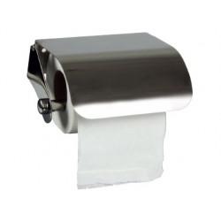 Dispensador q-connect de papel higienico acero inoxidable 122x98x45 mm