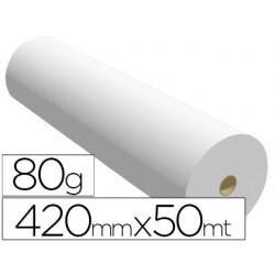 Papel reprografia para plotter 420mmx50mt 80gr impresion ink-jet