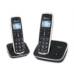 Telefono inalambrico spc duo telecom 7609-n color negro identificador de llamadas agenda pantalla