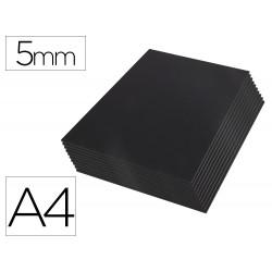 Carton pluma liderpapel negro doble cara din a4 espesor 5 mm