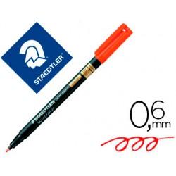 Rotulador lumocolor staedtler retroproyeccion punta de fibra permanente 319-2 rojo punta fina redonda 0.6 mm