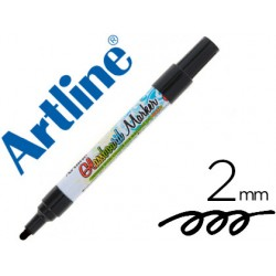 Rotulador artline glass marker especial cristal borrable en seco o humedo color negro