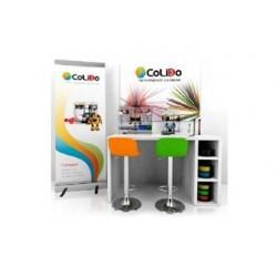 Mesa de trabajo 3d colido rincon incluye impresoras 3d 2.0 plus / compact accesorios y 2 taburetes 160x80x90 cm