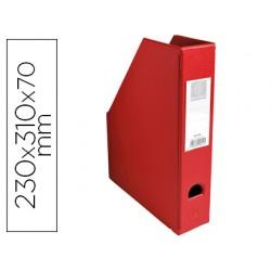 Revistero exacompta pvc lomo 70mm color rojo 230x310x70 mm
