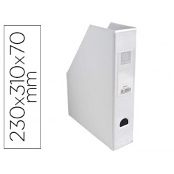 Revistero exacompta pvc lomo 70mm color blanco 230x310x70 mm