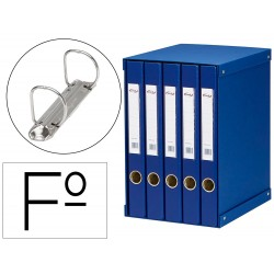 Modulo pardo 5 archivadores de palanca folio 2 anillas 25 mm azul 350x230x300 mm