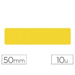 Simbolo adhesivo tarifold pvc tira longitudinal delimitacion suelo 50 mm amarillo pack de 10 unidades
