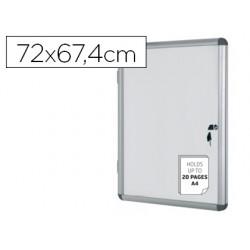 Vitrina de anuncios bi-office fondo magnetico extraplana de interior 720x674 mm