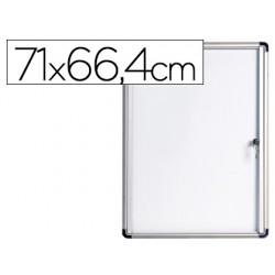 Vitrina de anuncios bi-office fondo magnetico extraplana de interior 710x664 mm