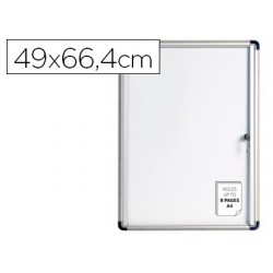 Vitrina de anuncios bi-office fondo magnetico extraplana de interior 490x664 mm