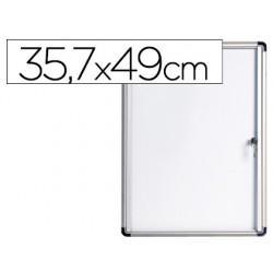 Vitrina de anuncios bi-office fondo magnetico extraplana de interior 357x490 mm