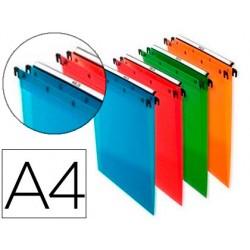 Carpeta colgante elba din a4 polipropileno pack de 10 unidades colores surtidos