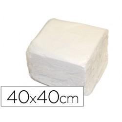 Servilleta de papel 40x40 cm blanca dos capas paquete de 50 unidades