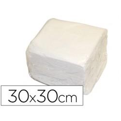 Servilleta de papel 30x30 cm blanca una capa paquete de 70 unidades