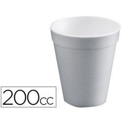Vaso termico de poliexpan 200cc paquete de 50 unidades