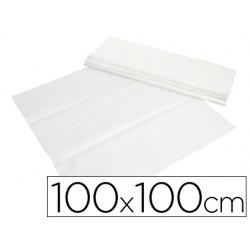 Mantel de papel blanco en hojas 100x100 cm caja de 400 unidades