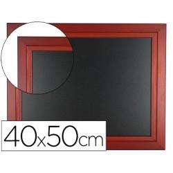 Pizarra negra liderpapel mural de madera con superficie para rotuladores tipo tiza 40x50cm