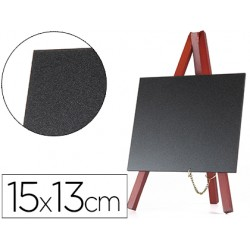 Pizarra negra liderpapel caballete madera superficie para rotuladores tipo tiza 15x13cm juego 3 pizarras