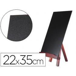 Pizarra negra liderpapel caballete de madera con superficie para rotuladores tipo tiza 22x35cm