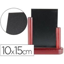 Pizarra negra liderpapel doble cara de madera con superficie para rotuladores tipo tiza 10x15cm