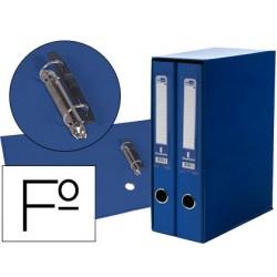 Modulo liderpapel 2 archivadores folio 2 anillas mecanismo de palanca 75mm azul