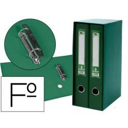 Modulo liderpapel 2 archivadores folio 2 anillas mecanismo de palanc 75mm verde