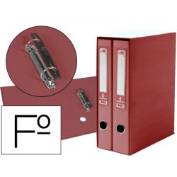 Modulo liderpapel 2 archivadores folio 2 anillas mecanismo de palanca 75mm rojo
