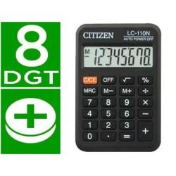 Calculadora citizen bolsillo lc-110 8 digitos negra