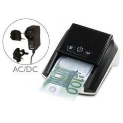 Detector y contador q-connect de billete falsos con cargador electrico puerto usb actualizacion de divisas