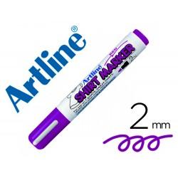 Rotulador artline camiseta ekt-2 violeta punta redonda 2 mm para uso en camisetas
