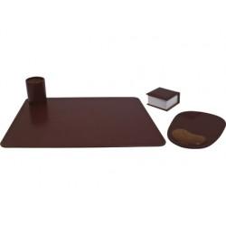 Escribania de sobremesa artesania en polipiel juego de 4 piezas fabricada en ubrique