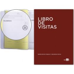 Libro liderpapel din a4 100 h registro de visitas de la inspeccion de trabajo