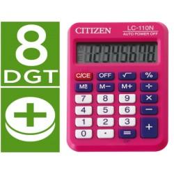 Calculadora citizen bolsillo lc-110 8 digitos rosa