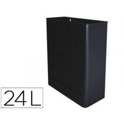 Papelera metalica de pared 24l. 460x350x150 mm negro