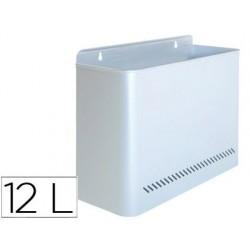 Papelera metalica 99 de pared 285x125x325 cm plata