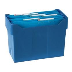 Soporte sobremesacarpetas colgantes azul de poliestireno para formato din a4 capacidad 20 carpetas